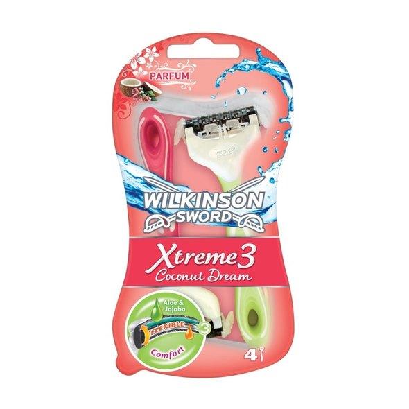 Wilkinson Xtreme3 Coconut dream dámská holítka 3+1 ks