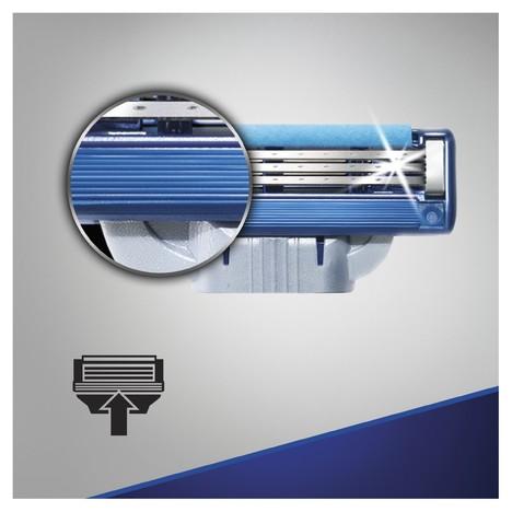 Gillette Mach3 Turbo náhradní hlavice 4 ks