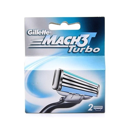 Gillette Mach3 Turbo náhradní hlavice 2 ks