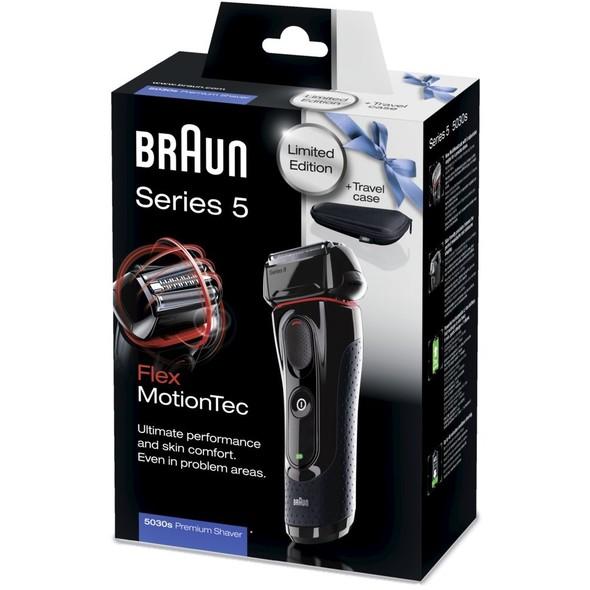 Braun Series 5-5030s Flex MotionTec holicí strojek + cestovní pouzdro - ROZBALENÝ