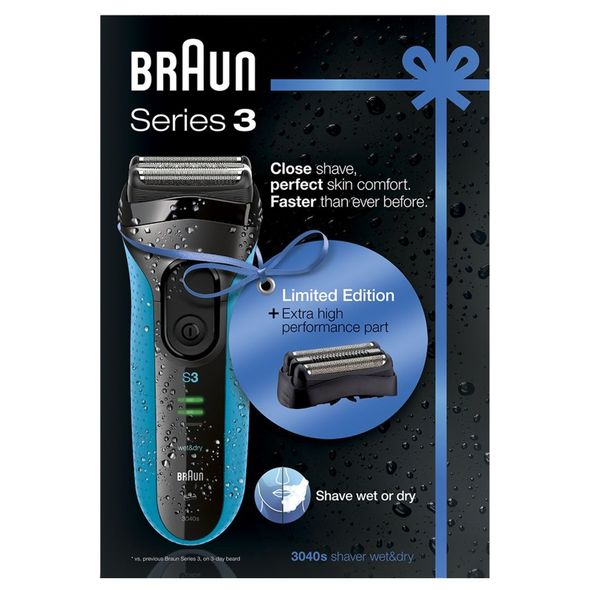 Braun Series 3-3040s Wet&Dry holicí strojek + CombiPack 32B