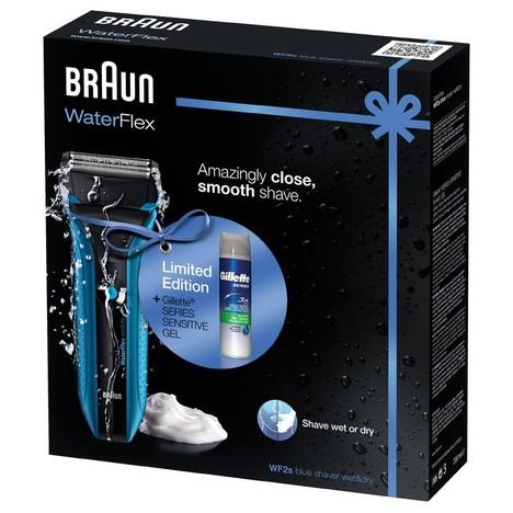 Braun WaterFlex WF2s holicí strojek Wet&Dry - POUŽITÉ + gel na holení