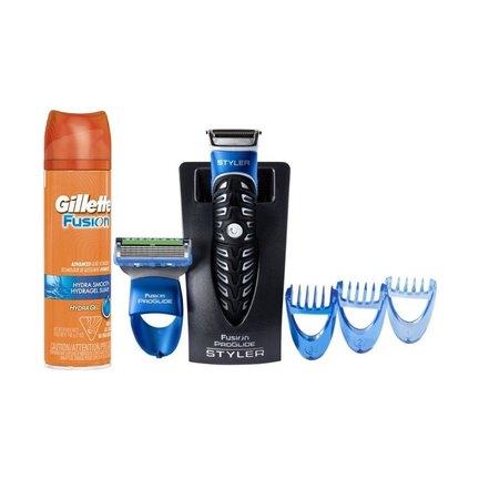 Gillette Fusion ProGlide Styler 2v1 + gel na holení Gillette Fusion 200 ml
