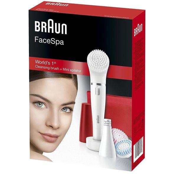 Braun FaceSpa 852 epilátor a čistící kartáček na obličej