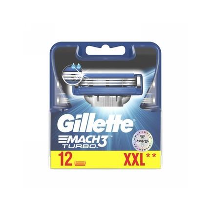 Gillette Mach3 Turbo náhradní hlavice 12 ks