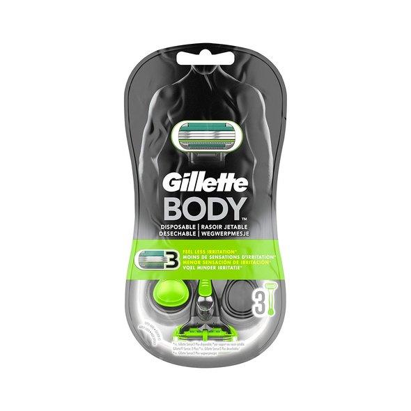 Gillette Body Razor 3 holítka, 3 ks