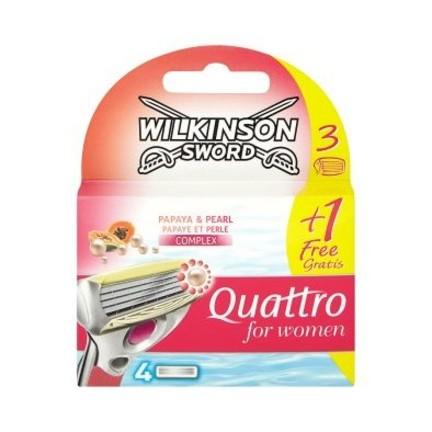 Wilkinson Quattro for Women Papaya&Pearl náhradní břity 4 ks