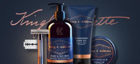 Představujeme produkty King C. Gillette