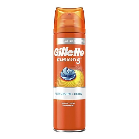 Gillette Fusion 5 Ultra Sensitive&Cooling gel na holení 200 ml