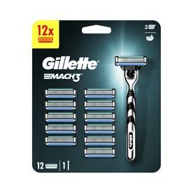 Gillette Mach 3 holicí strojek + 12 hlavic