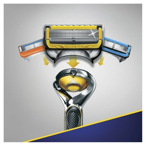 Gillette Fusion 5 ProShield FlexBall holicí strojek + 4 hlavice