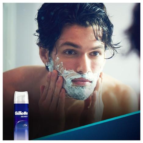 Gillette Series Pure&Sensitive gel na holení 2×200 ml