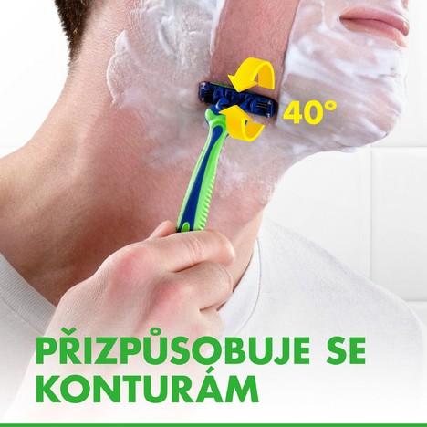 Gillette Blue 3 Sensitive jednorázová holítka 12 ks
