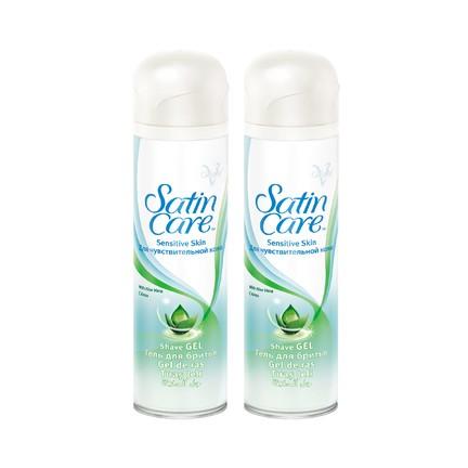 Gillette Satin Care Sensitive gel na holení 2×200 ml