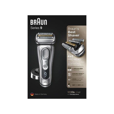 Braun Series 9 9330s Wet&Dry holicí strojek, STŘÍBRNÁ