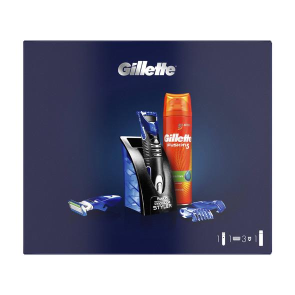 Gillette Fusion Proglide Styler + gel na holení 200 ml
