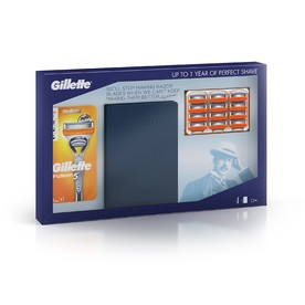 Gillette Fusion 5 Manual +12 ks náhradních hlavic + diář 2020