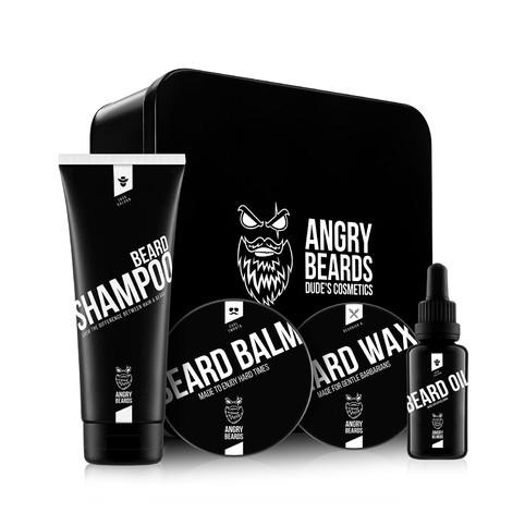 Angry Beards sada produktů na vousy