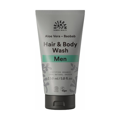 Urtekram Men Hair&Body Wash sprchový gel a šampón 150 ml