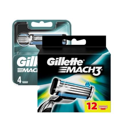 Gillette Mach3 náhradní hlavice 12 ks+ 4 ks