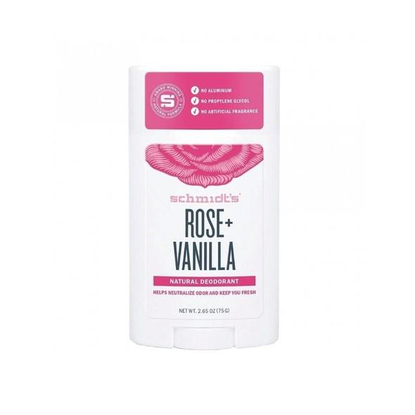 Schmidt's Rose + Vanilla tuhý deodorant 58 ml