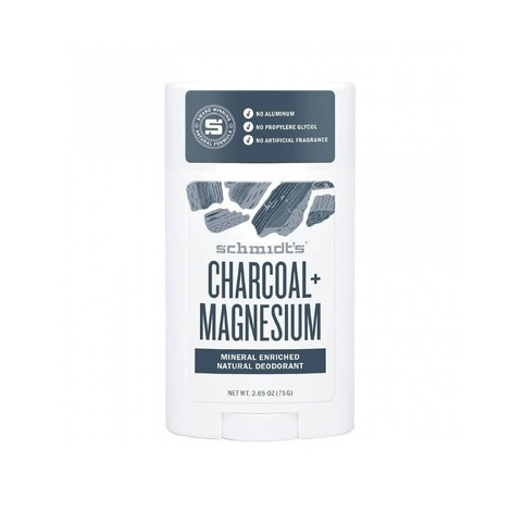 Schmidt's Charcoal + Magnesium tuhý deodorant 58 ml