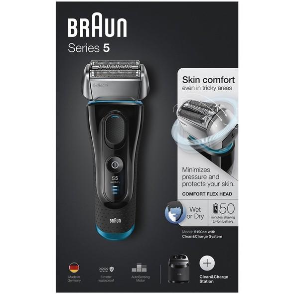 Braun Series 5 5190cc Wet&Dry holicí strojek - ROZBALENÉ ZBOŽÍ