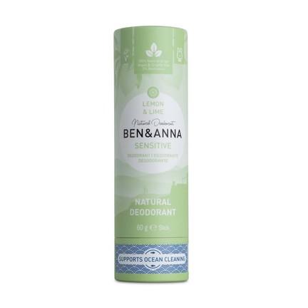 Ben & Anna Sensitive Lemon&Lime tuhý deodorant 60 g