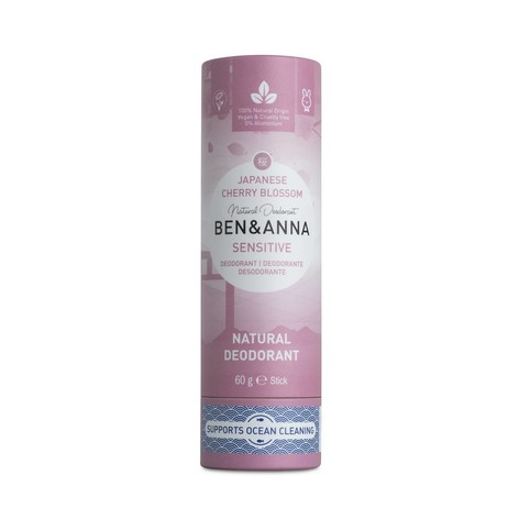 Ben & AnnaSensitive Cherry Blossom tuhý deodorant 60 g