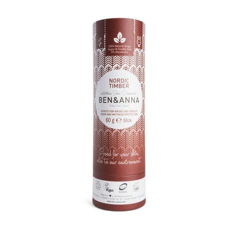 Ben & Anna Nordic Timber tuhý deodorant 60 g