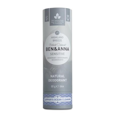 Ben & Anna Sensitive Highland Breeze tuhý deodorant 60 g