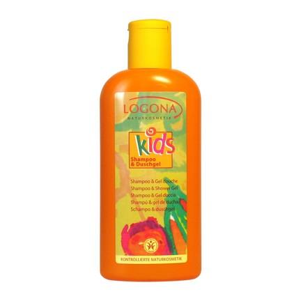 Logona Kids dětský sprchový gel a šampon 200 ml