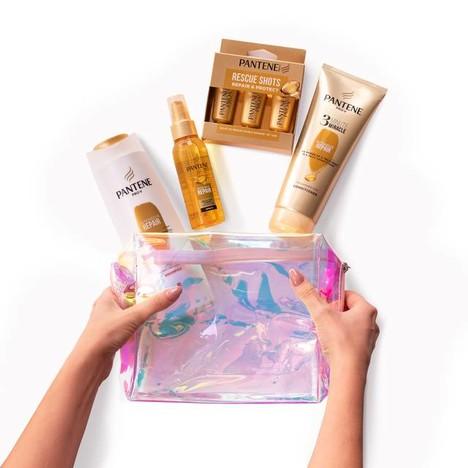 Pantene Golden Cosmetic Bag Xmas Pack dárková sada