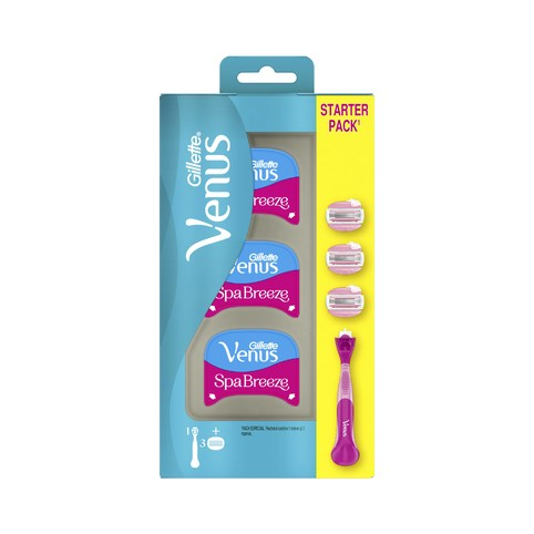 Gillette Venus Breeze ComfortGlide Spa holicí strojek + 3 hlavice