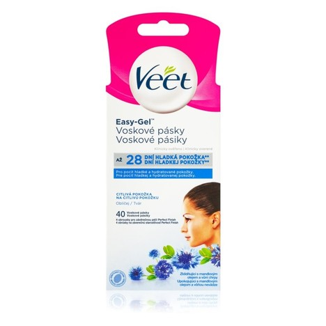 Veet Wax Strips Face Sensitive Skin depilační pásky 40 ks