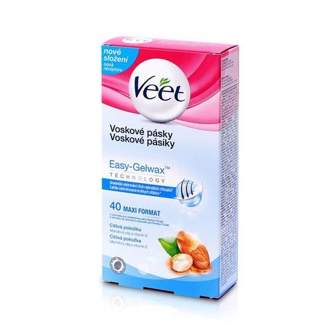 Veet Wax Strips Sensitive Skin voskové depilační pásky 40 ks