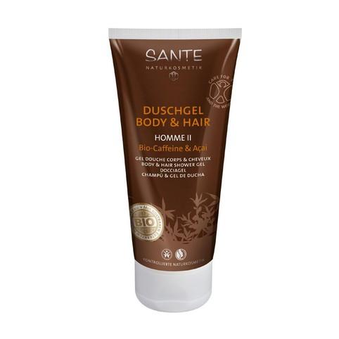 Sante Homme II Bio-Caffeine & Açai sprchový gel a šampon 200 ml