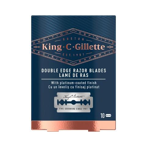 King C. Gillette Double Edge Razor Blades náhradní žiletky 10 ks