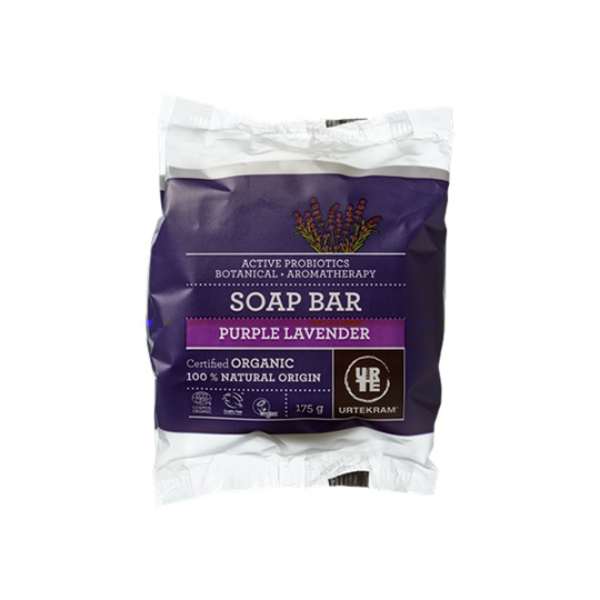 Urtekram Soap Bar Purple Lavender tuhé mýdlo 175 g