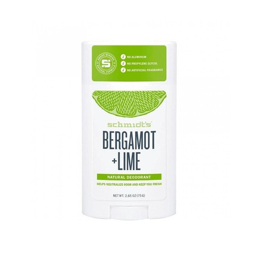 Schmidt's Bergamot + Lime tuhý deodorant 58 ml