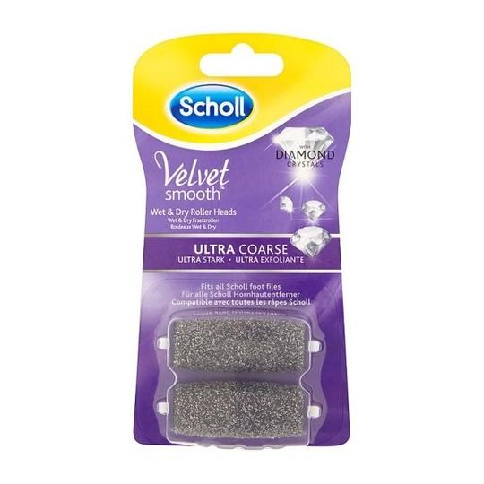 Scholl Velvet Smooth Pedi Ultra Coarse Wet&Dry náhradní hlavice, 2ks