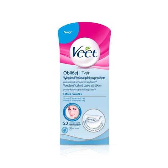 Veet Wax Strips Face Sensitive Skin depilační pásky 20 ks