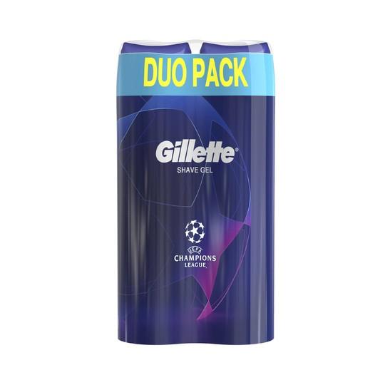 Gillette Gel Fusion Ultra Sensitive gel na holení 2 × 200 ml