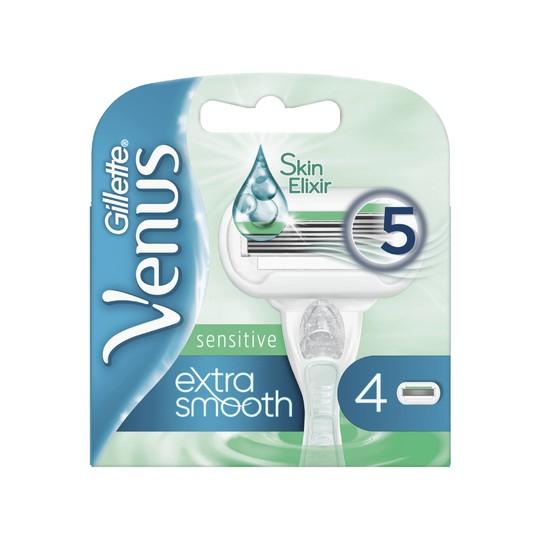 Gillette Venus Extra Smooth Sensitive náhradní hlavice 4 ks