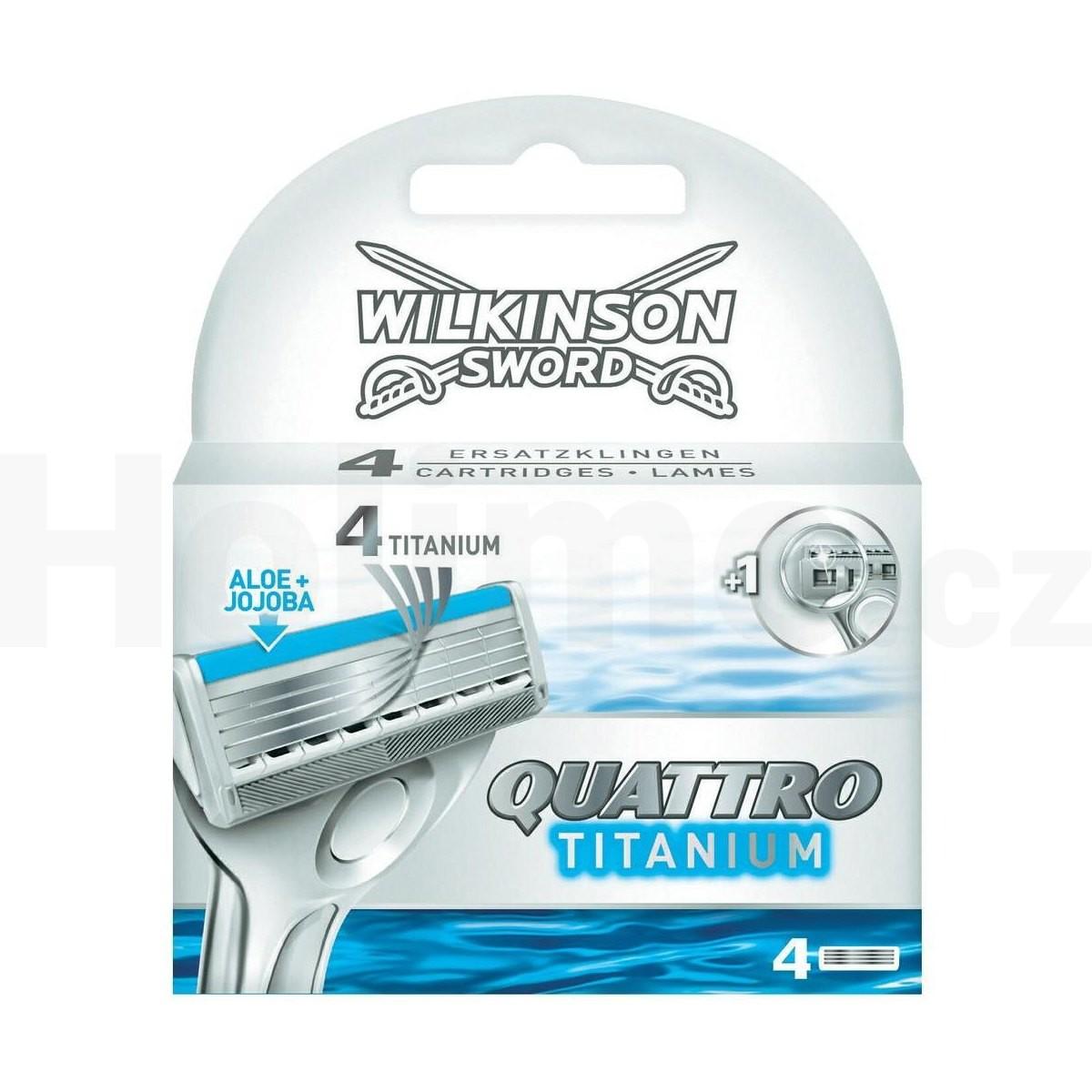 Wilkinson Quattro Titanium náhradní hlavice 4 ks