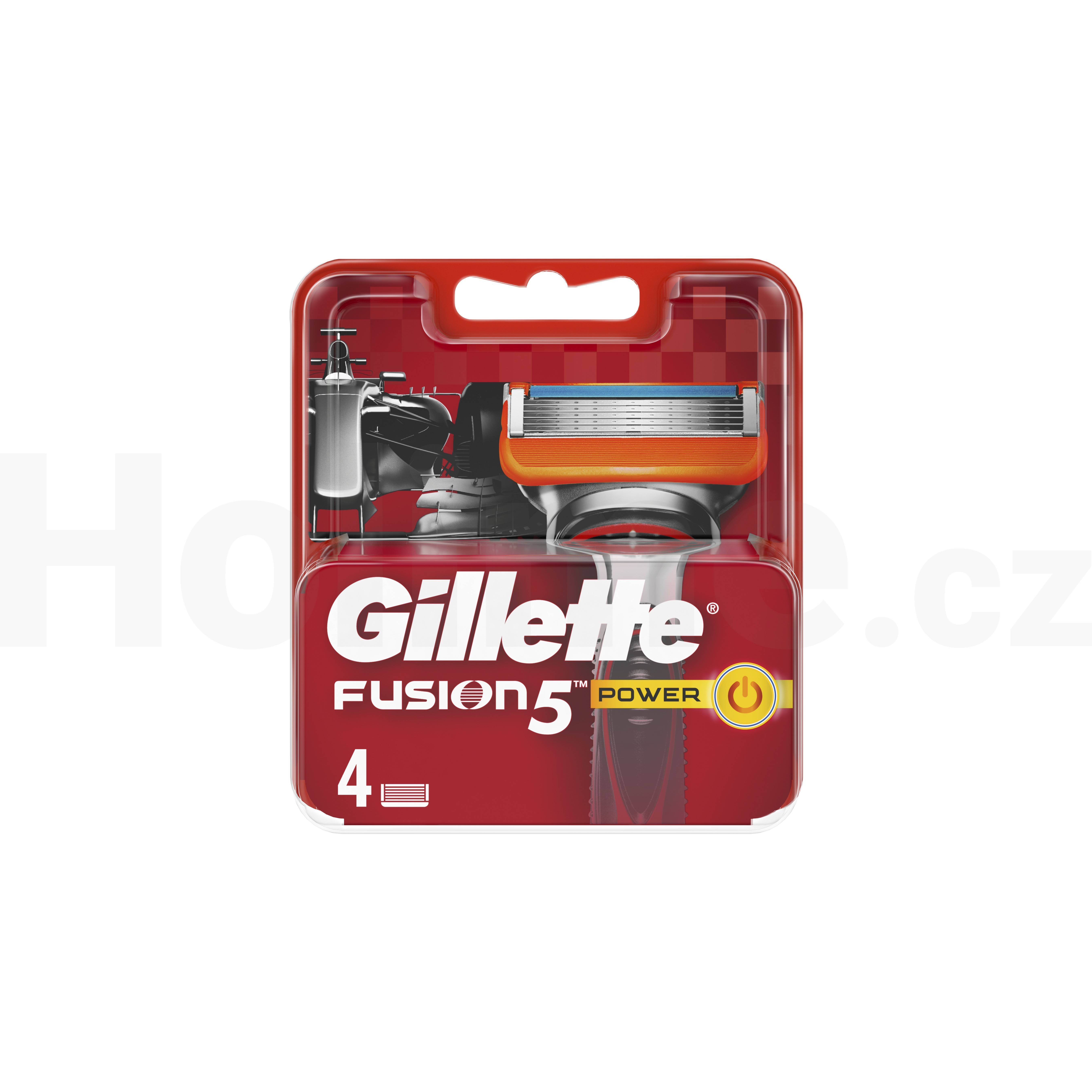 Procter & Gamble Gillette Fusion Power náhradní hlavice 4 ks