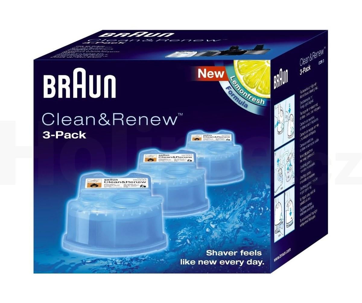 Braun CCR 3 Clean Renew náhradní čistící náplně 3 ks citron