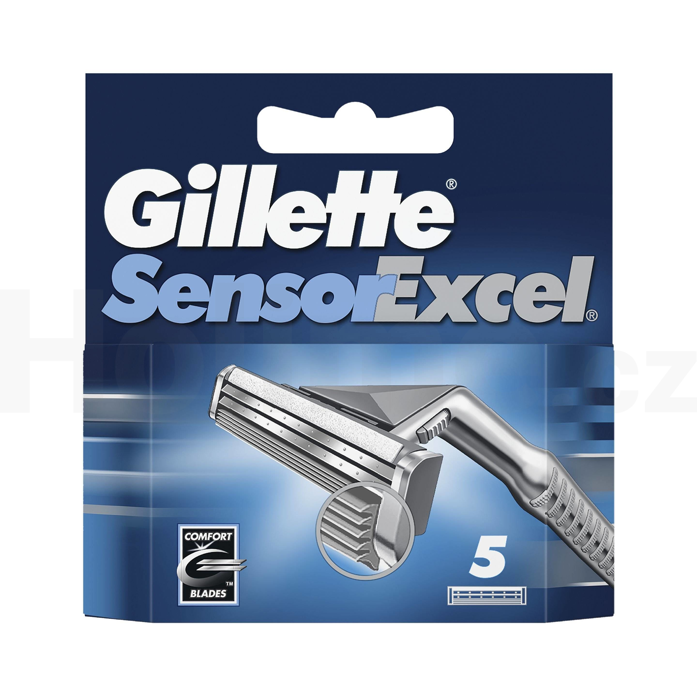 Gillette Sensor Excel náhradní hlavice 5 ks