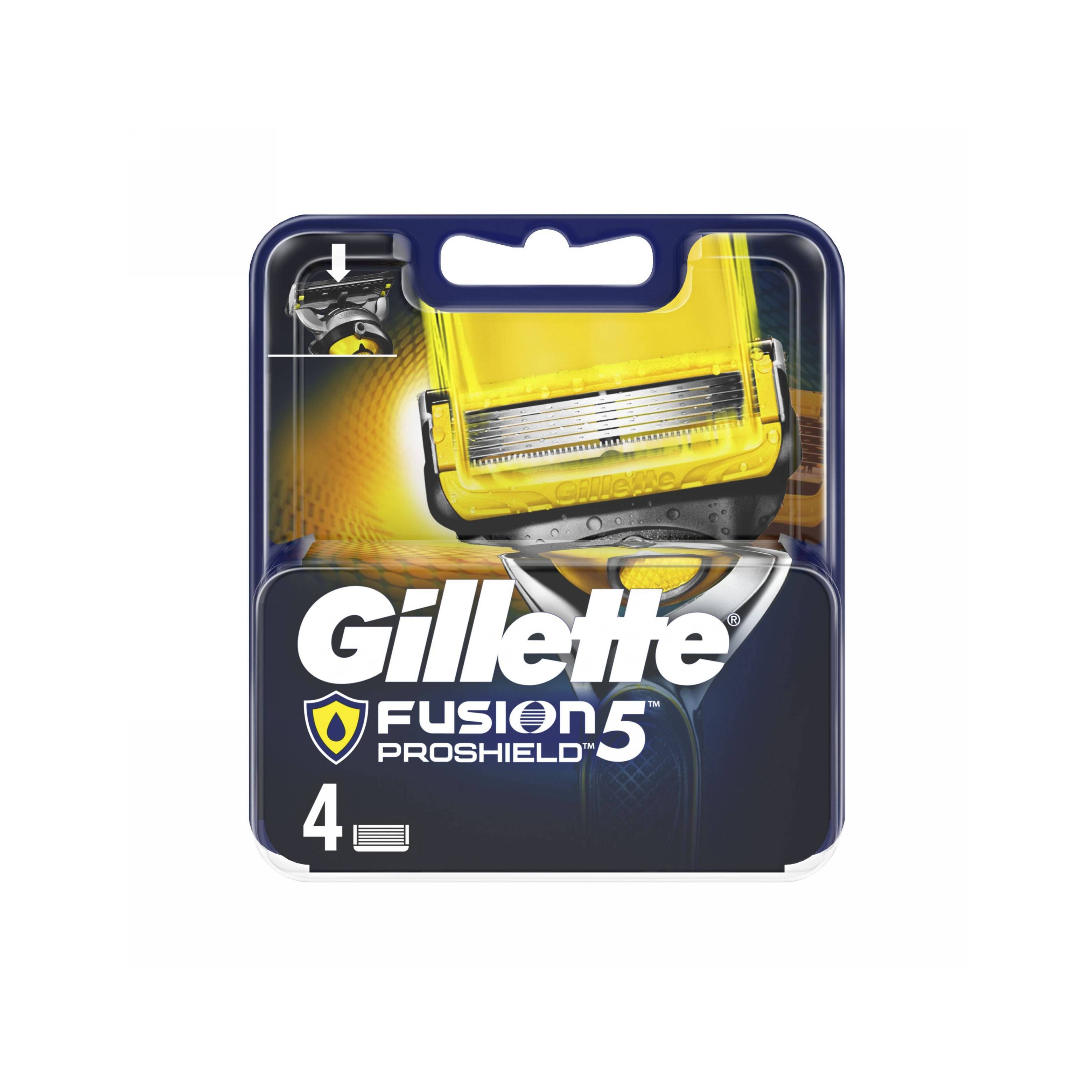 Gillette Fusion 5 ProShield náhradní hlavice 4 ks