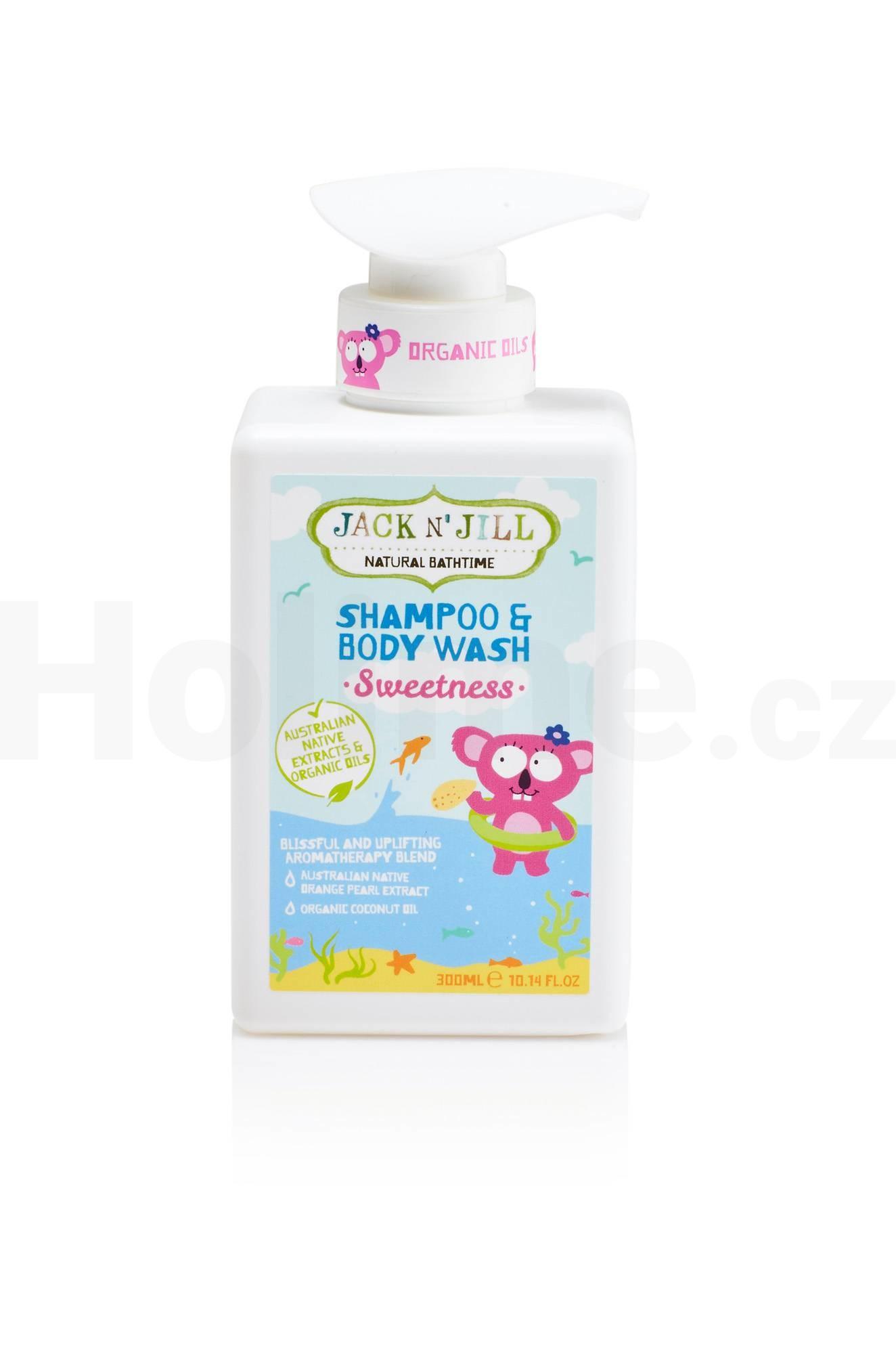 Jack N' Jill Kids Sweetness dětský sprchový gel a šampon 300 ml